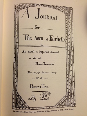 title page of Wheeler's Journal
